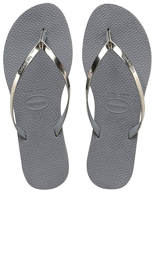 You Metallic Flip Flop