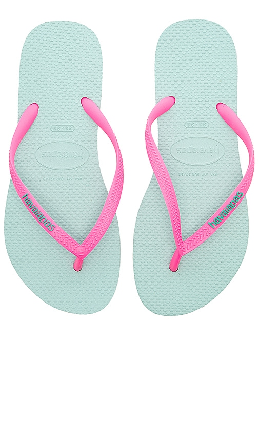 Havaianas Slim Logo Pop-Up Sandal in Pink
