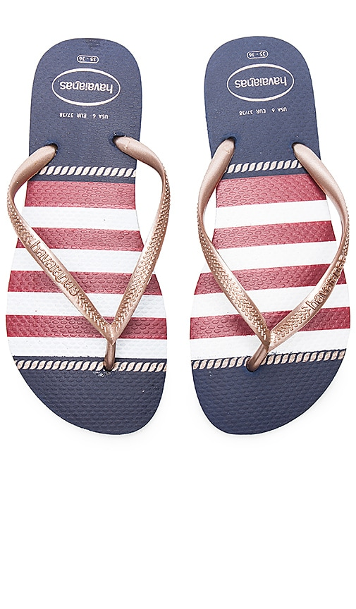 Havaianas Slim Nautical Sandal in Navy
