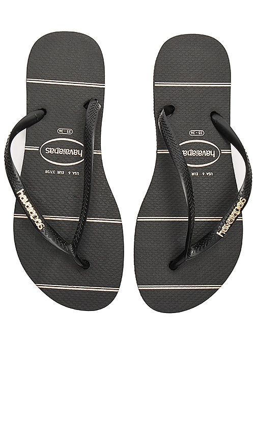 Slim Logo Metallic Fine Lines Sandal
