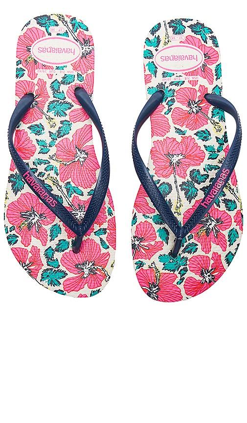 Havaianas Slim Floral Sandal in Pink