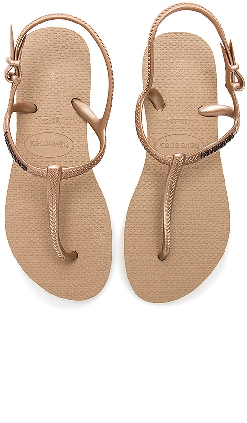 cc000d6c44e47 Havaianas Freedom Slim Sandal in Rose Gold