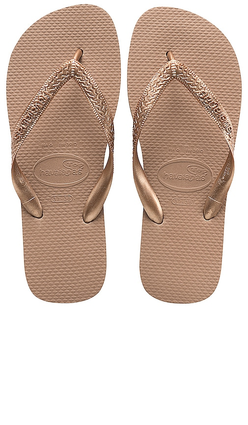 7e30df5d2dd Havaianas Top Tiras Sandal in Rose Gold | REVOLVE
