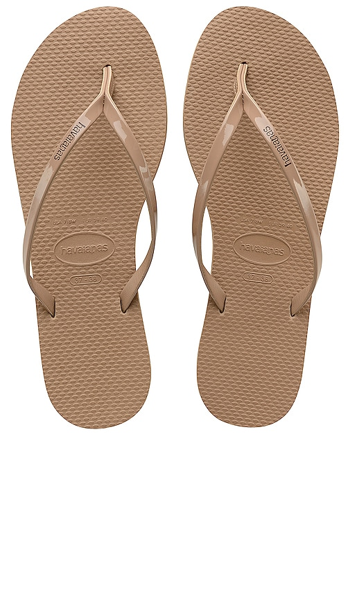 7bfda9adc Havaianas You Metallic Flip Flop in Rose Gold