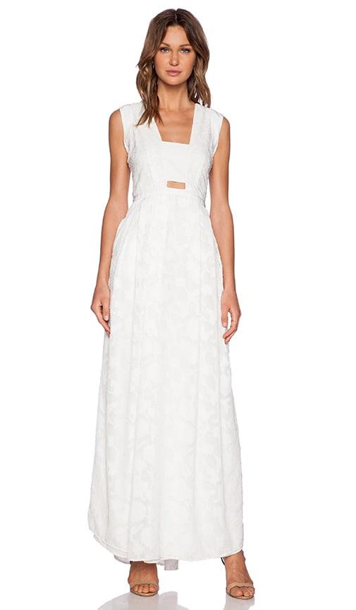 Hunter Bell Clarke Maxi Dress in White Petal