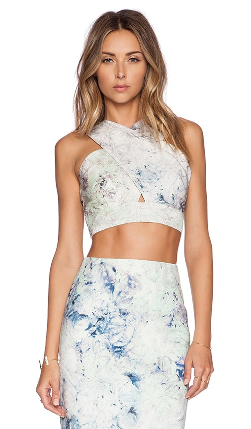 Hunter Bell Marcy Crop Top in Green