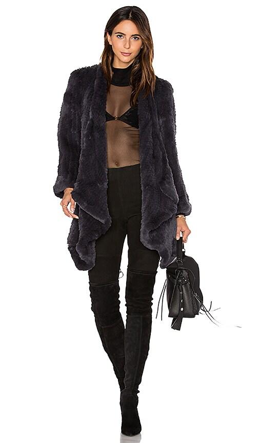 Hand Knitted Rabbit Fur Coat