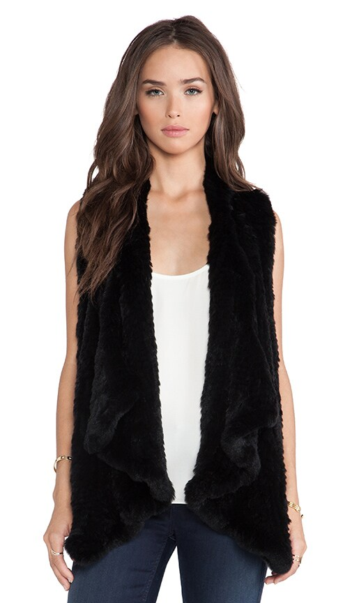 Audra Rabbit Fur Vest