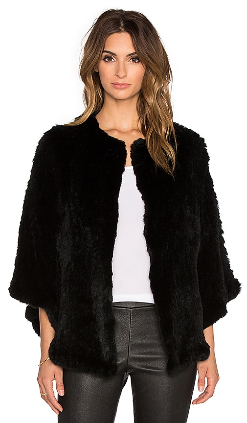 Arik Dyed Rabbit Fur Cape