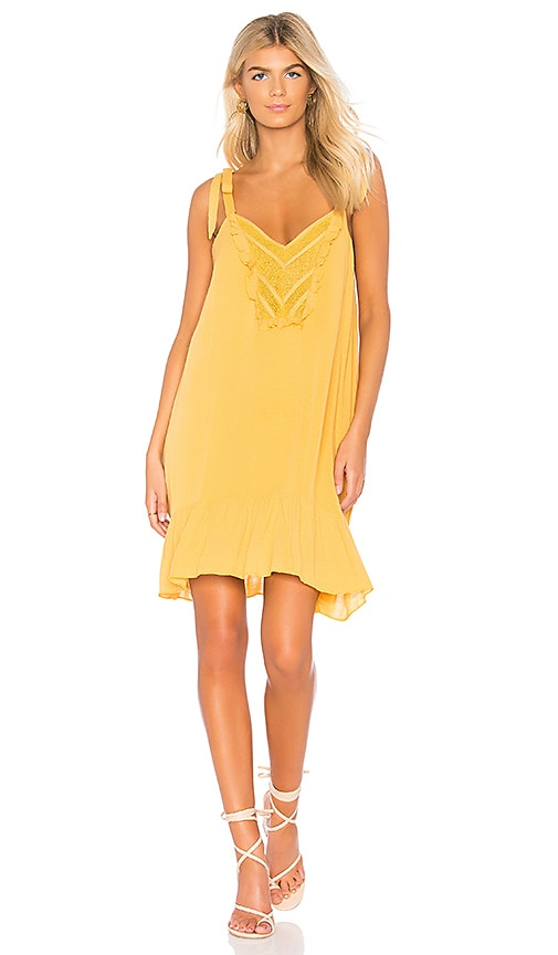 HEARTLOOM Saige Dress in Mustard