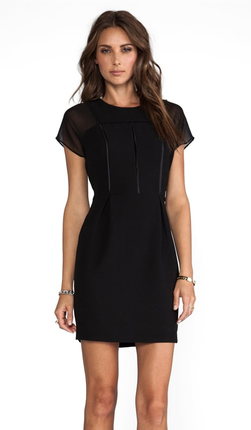 Lea Black Short Sleeve Dress