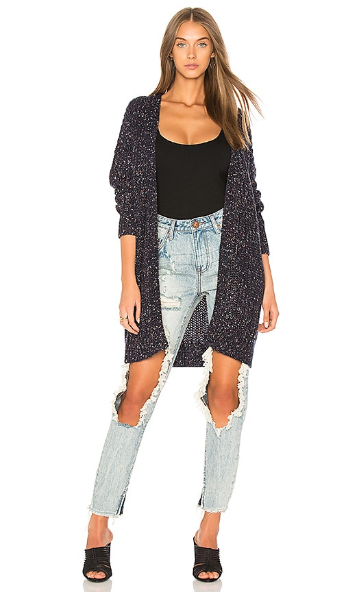 HEARTLOOM Catie Sweater Cardigan in Navy