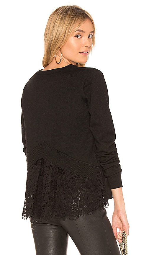 HEARTLOOM Reeve Lace Sweater in Black