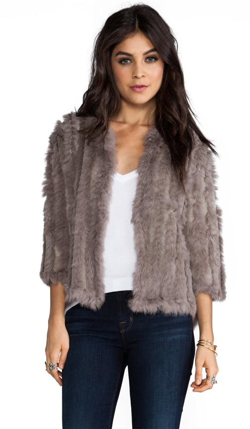 Rosa Rabbit Fur Jacket