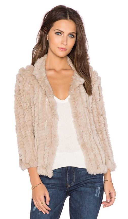 heartLoom Rosa Rabbit Fur Jacket in Wheat