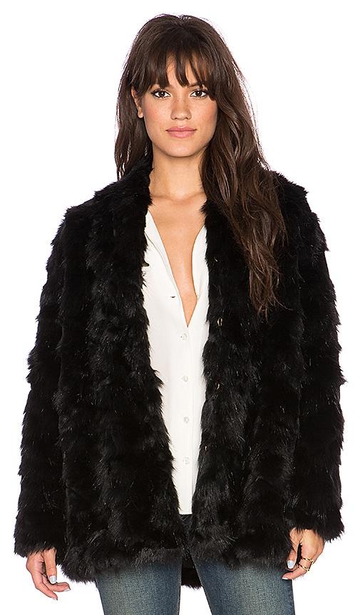492d9d8397a4 HEARTLOOM Tess Faux Fur Coat in Onyx | REVOLVE