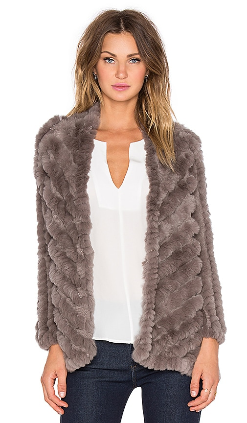 heartLoom Tilda Rabbit Fur Jacket in Ember