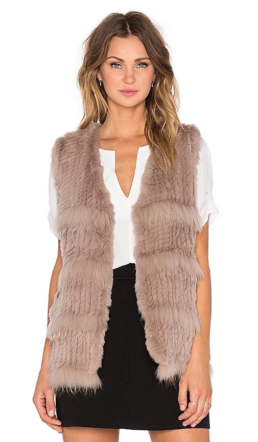 Denise Rabbit and Raccoon Fur Vest