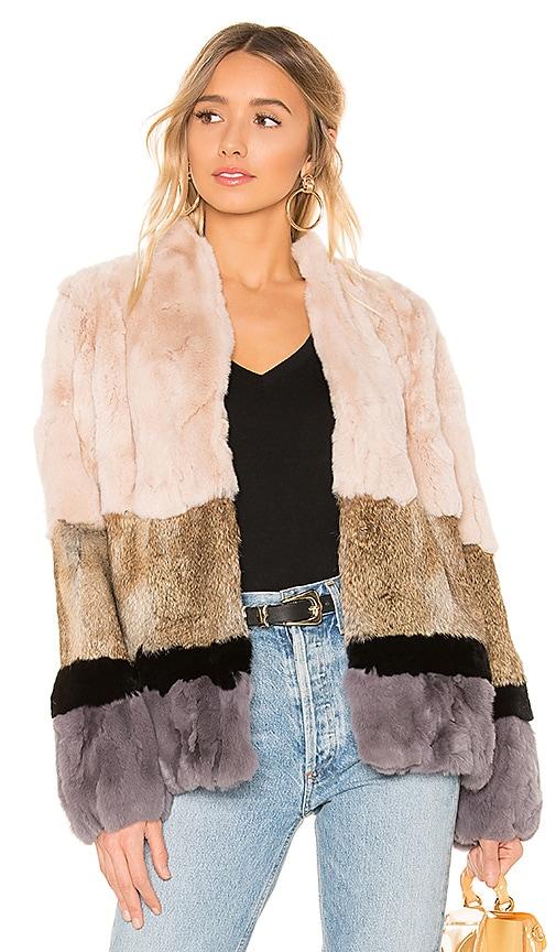 Chandler Rabbit Fur Jacket