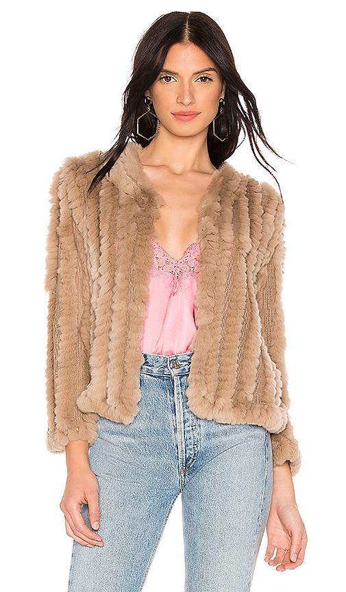Rosa Rabbit Fur Jacket