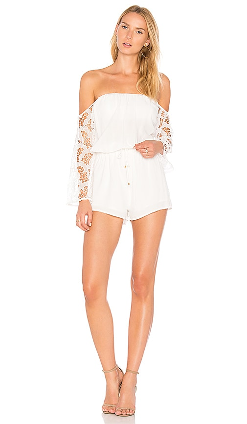 HEARTLOOM Willow Romper in White