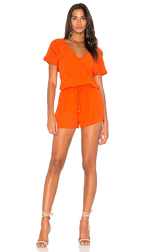 HEARTLOOM Malena Romper in Orange