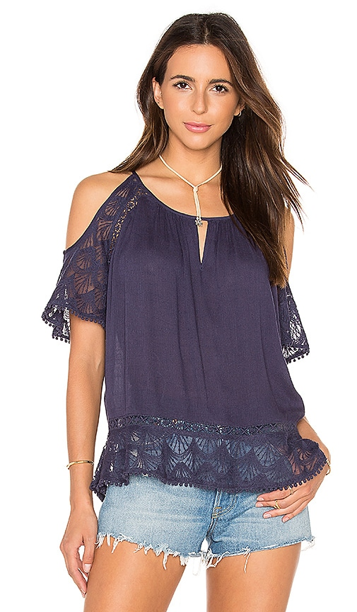 HEARTLOOM Jemma Top in Navy