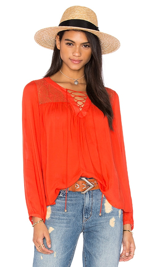 HEARTLOOM Lima Top in Red