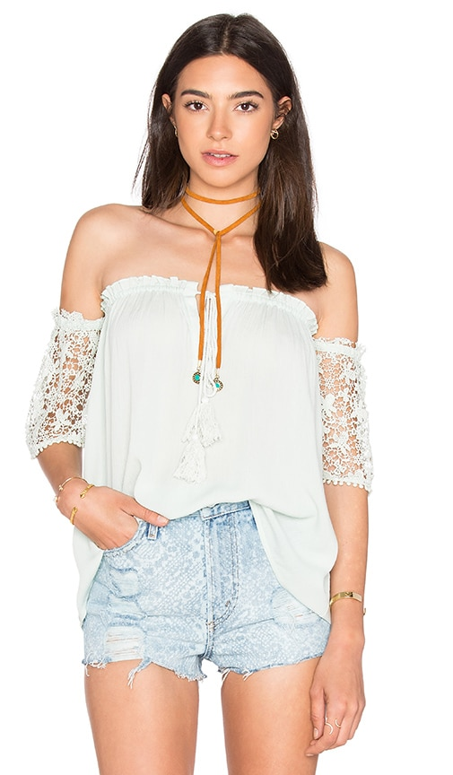 HEARTLOOM Saba Top in Mint