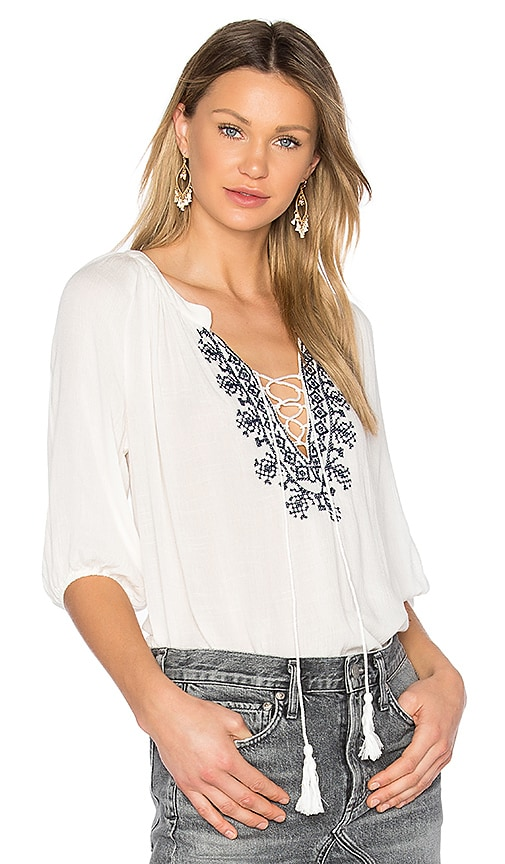 heartLoom Eliza Top in White