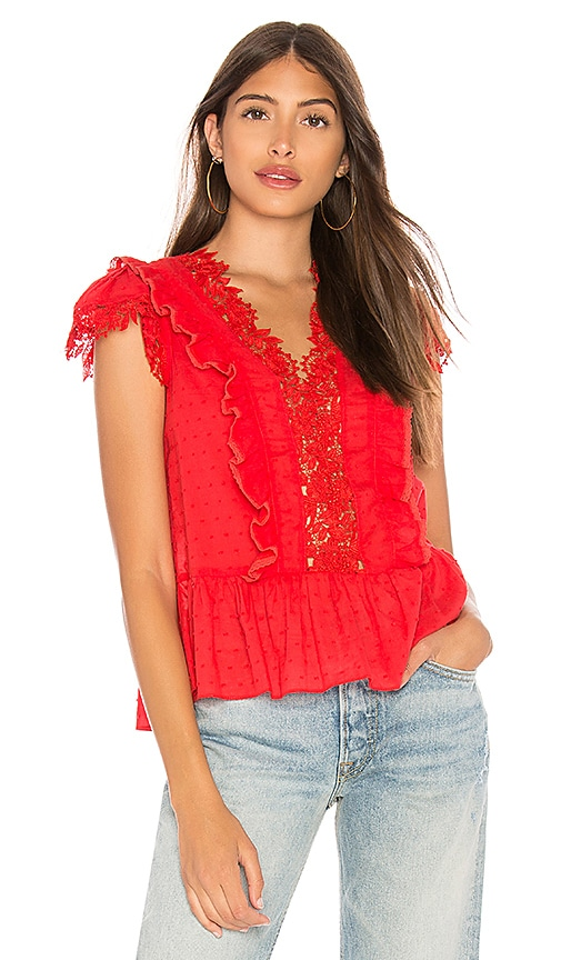 HEARTLOOM Gilda Top in Red