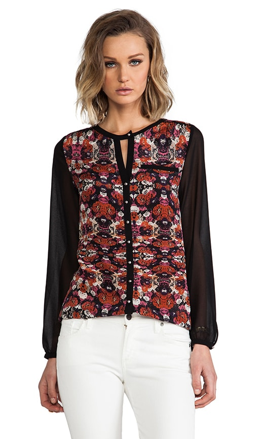 Leslie Silk Floral Top