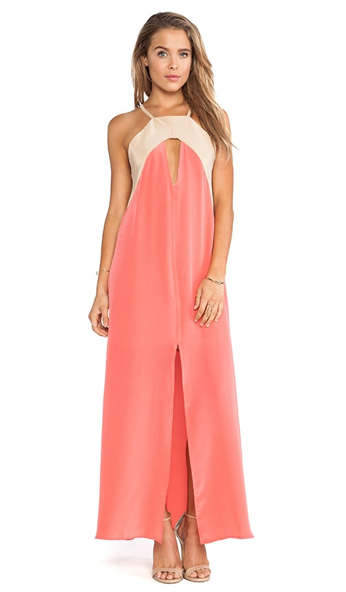 Triangle Cut Out Maxi Dress