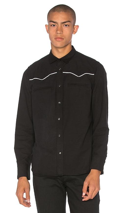 Herman Western Snap Shirt in Black
