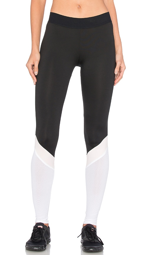 Heroine Sport Cycling Pant in Black Blush & White