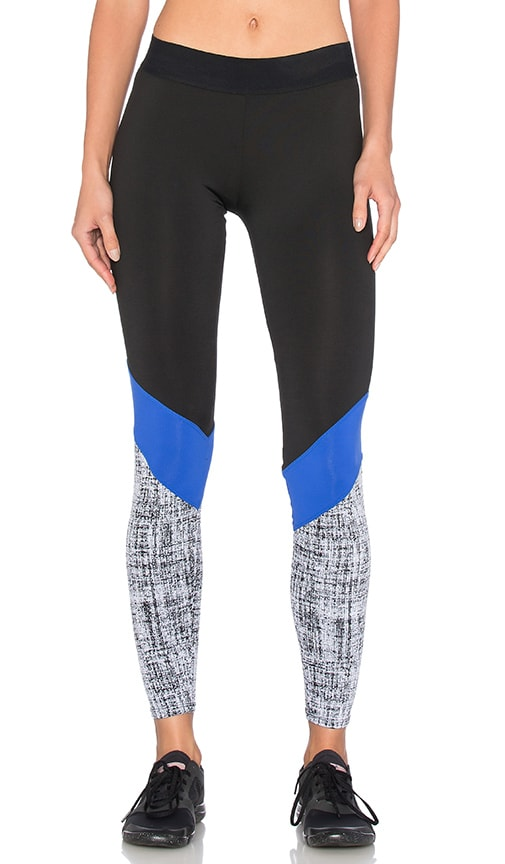 Heroine Sport Cycling Pant in Black Cobalt & Chalk