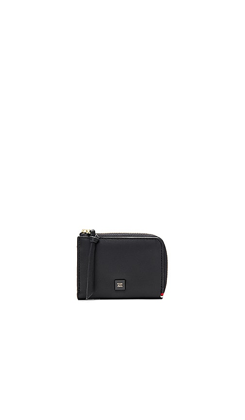 Herschel Supply Co. Napa Leather Lamont Wallet in Black