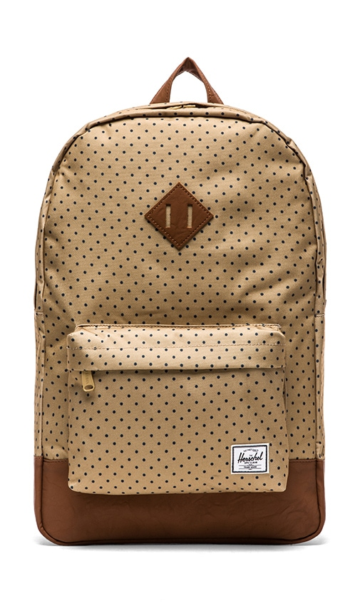 43a8dd474c69 Herschel Supply Co. Heritage Backpack in Khaki Polka Dot