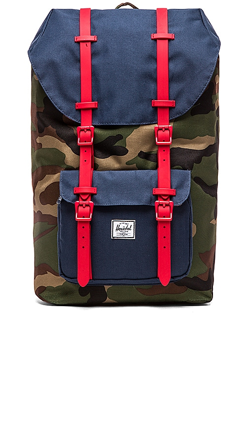 43b37a96c2a Herschel Supply Co. Little America in Woodland Camo   Navy   Red ...
