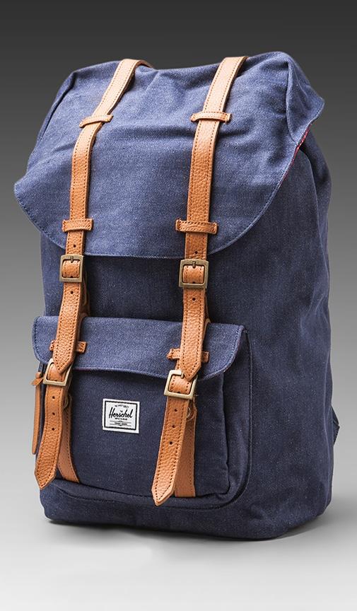 f3edc2ba15b Herschel Supply Co. Denim Collection Little America Backpack in Dark ...