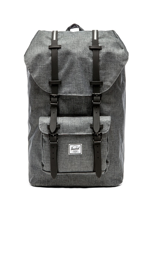 e65e16a5ca31 Herschel Supply Co. Little America in Charcoal Crosshatch   Black ...