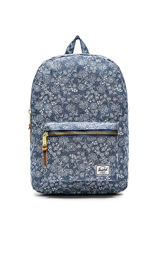Herschel Supply Co. Mid Volume Settlement in Floral Chambray   REVOLVE 9b67b4564f