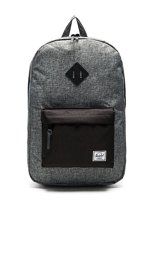 407bf71b82a Herschel Supply Co. Heritage in Raven Crosshatch   Black Pebbled ...