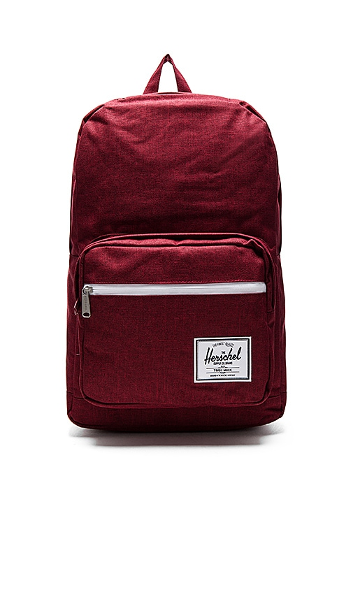 Sac à dos Herschel Pop Quiz Winetasting Crosshatch rouge M4S7Tt