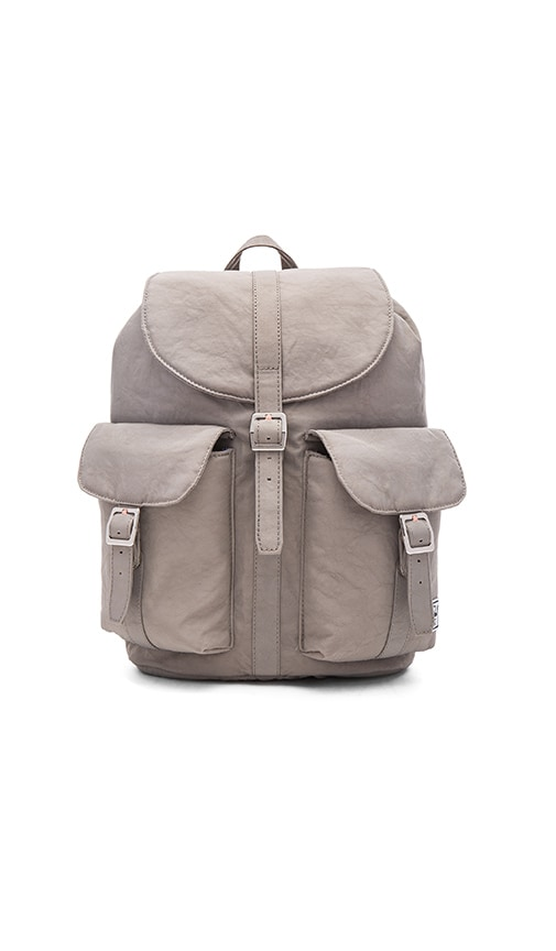 Herschel Supply Co. Dawson Backpack in Agate Grey & Veggie Tan Leather