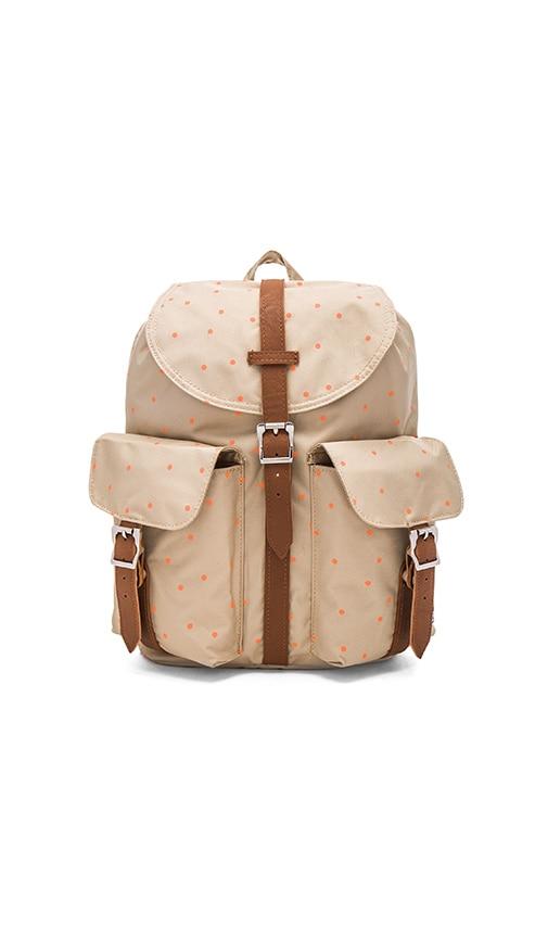 Herschel Supply Co. Dawson Backpack in Khaki & Nectarine Scatter & Tan
