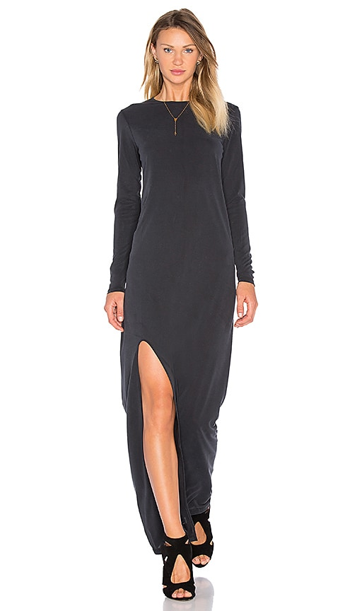 HELFRICH Parker Maxi Dress in Charcoal