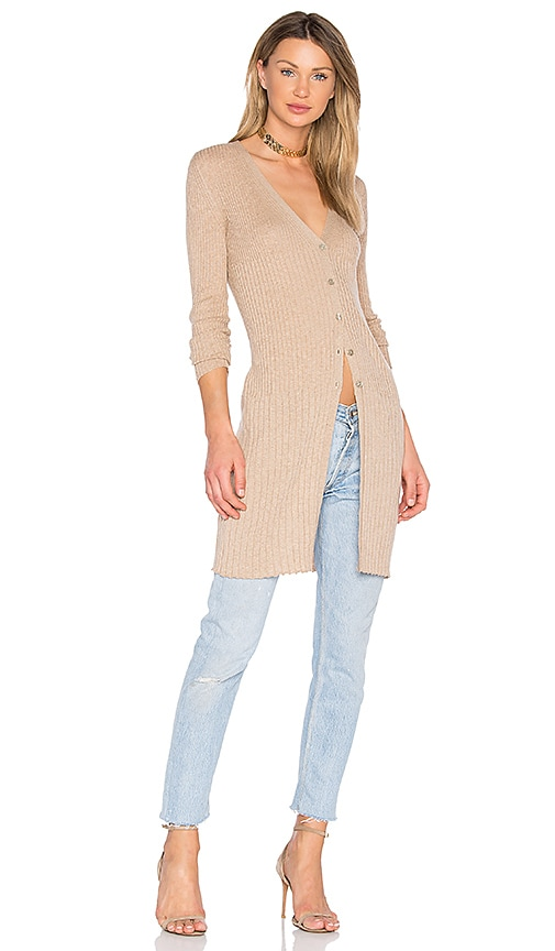 HELFRICH Teddy Cardigan in Beige