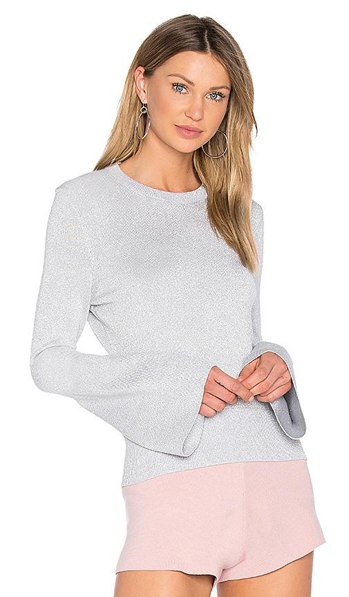 HELFRICH Janis Lurex Crew Neck Sweater in Gray