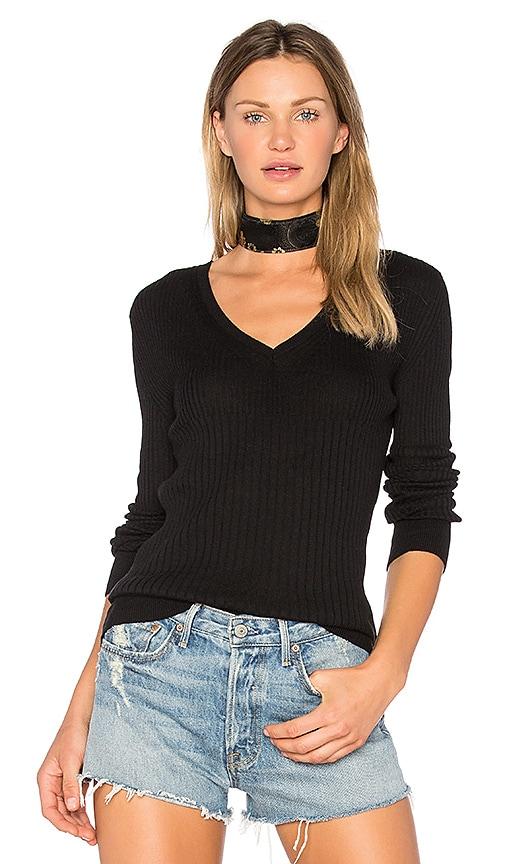 HELFRICH Mimi V Neck Sweater in Black